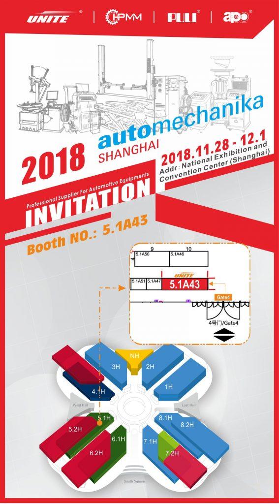 2018 Automechanika Shanghai Invitation